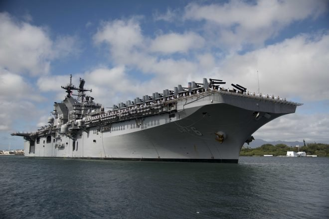USS America Steaming Toward New Homeport In Japan