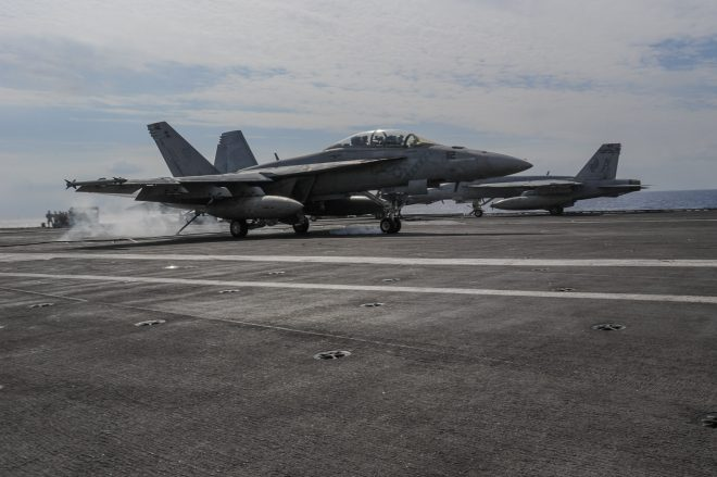 Super Hornet Crashes in the Philippine Sea, Both Aviators Safely Recovered