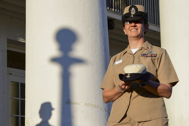 Navy Officially Retires 'Bucket' Cover for Female Officers, Chiefs