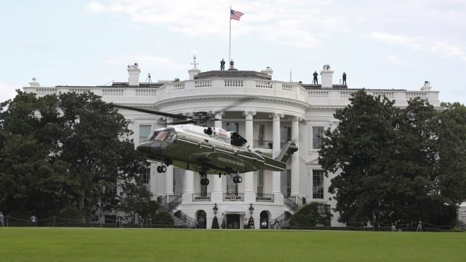 Next Presidential Helicopter Passes First Test Landing at White House