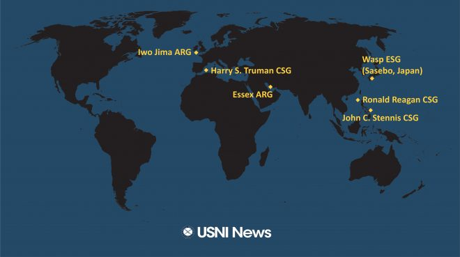 USNI News Fleet and Marine Tracker: Nov. 19, 2018