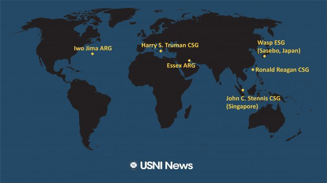 USNI News Fleet and Marine Tracker: Nov. 26, 2018