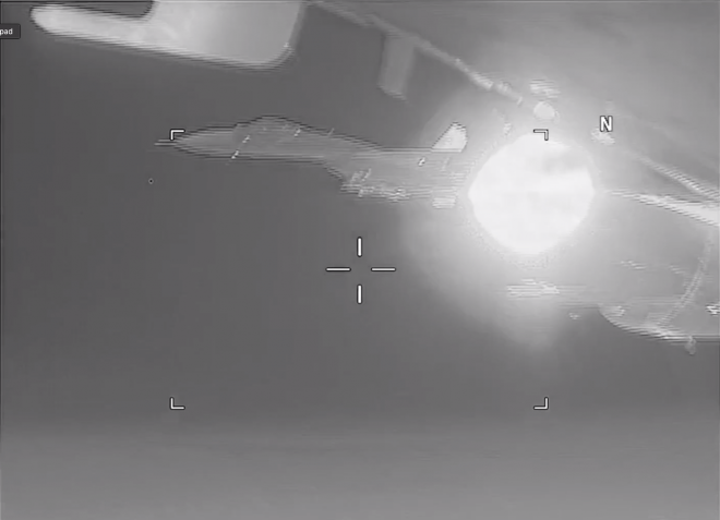 VIDEO: Navy Says Russian Su-27 Intercepts U.S. EP-3 Over Black Sea in 'Unsafe' Maneuver
