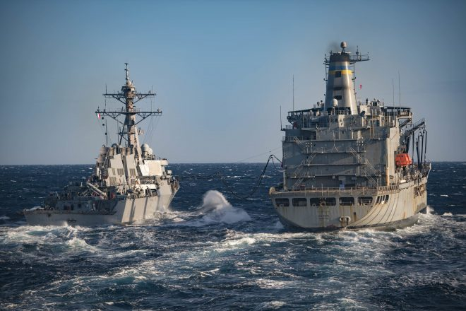 Study Says Navy Logistics Fleet Would Fall Short in High-End Fight