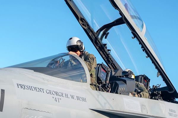Navy Will Perform Unprecedented 21-Fighter Flyover for Bush Funeral