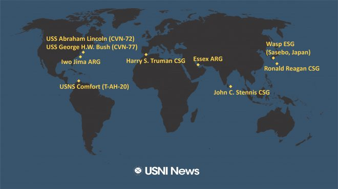 USNI News Fleet and Marine Tracker: Dec. 3, 2018