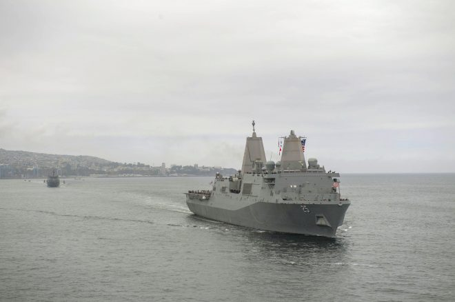 Navy Tests 'Littoral Combat Group' Concept That Pairs DDG, LPD in South America Deployment