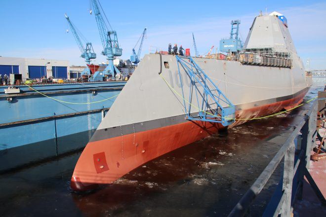 Navy Studying Hyper Velocity Projectile, Other Ammo for Zumwalt Guns