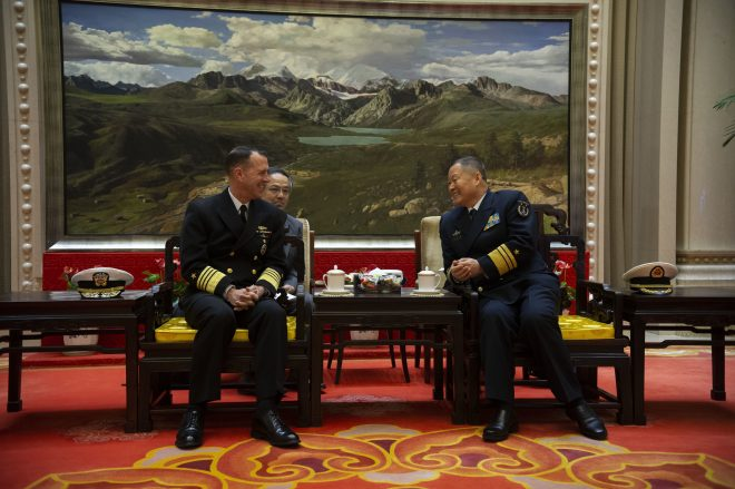 Richardson, Chinese Navy Chief Discuss Maritime Operations In Beijing