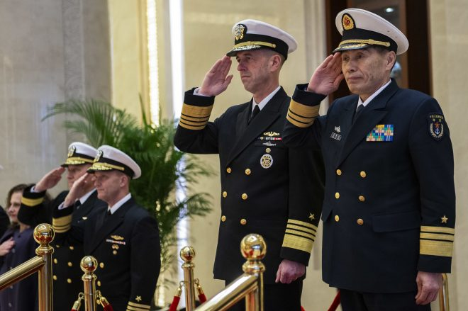 Heads of U.S. And Chinese Navies Discuss Decreasing South China Sea Risks