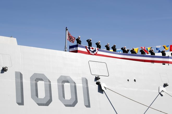 VIDEO: Navy Commissions Guided-Missile Destroyer USS Michael Monsoor