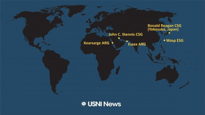 USNI News Fleet and Marine Tracker: Jan. 14, 2019