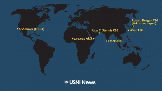 USNI News Fleet and Marine Tracker: Jan. 22, 2019