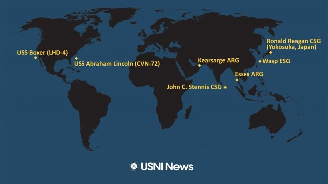 USNI News Fleet and Marine Tracker: Jan. 28, 2019