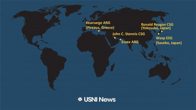 USNI News Fleet and Marine Tracker: Jan. 7, 2019