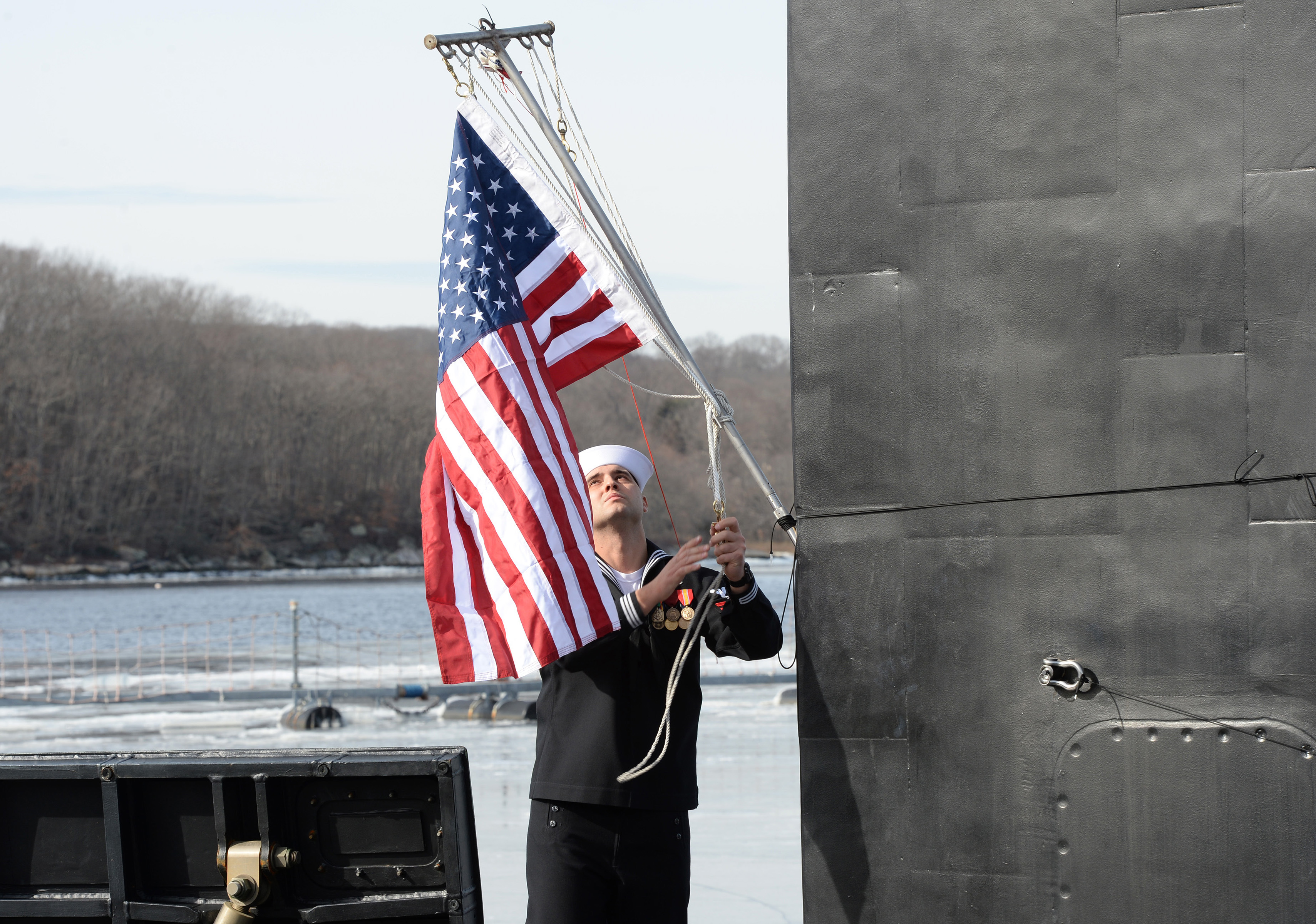 Video Attack Boat Uss South Dakota Commissions Usni News