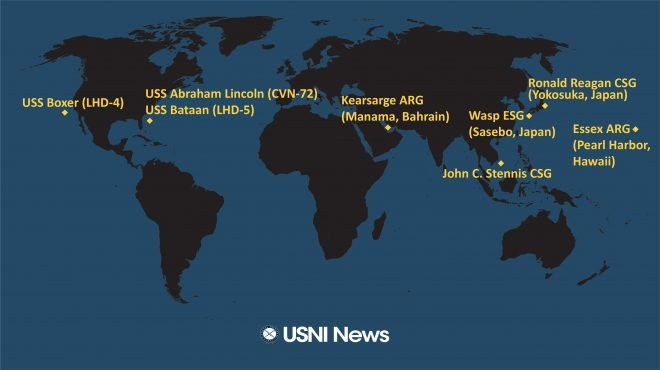 USNI News Fleet and Marine Tracker: Feb. 19, 2019