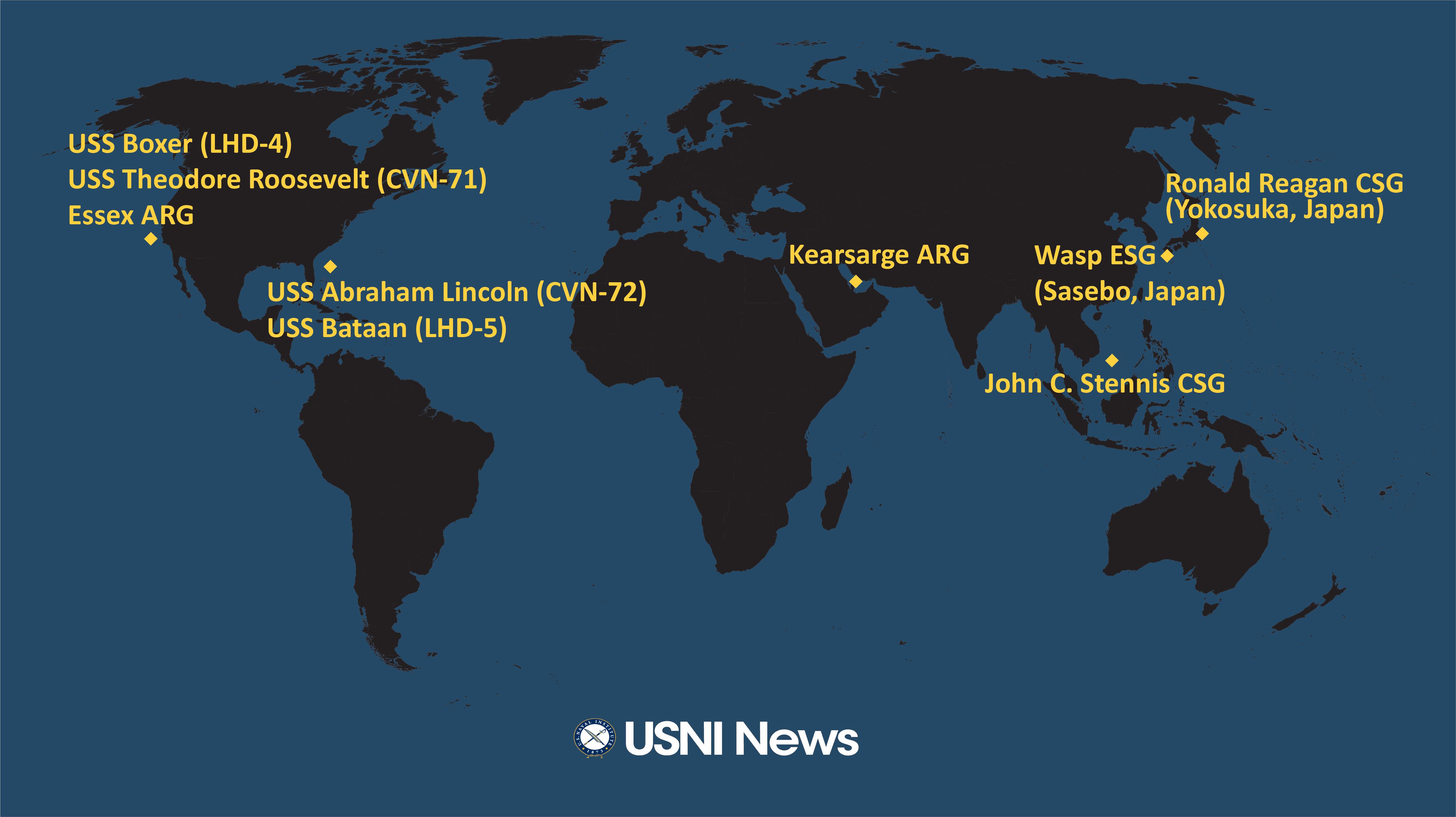USNI News Fleet and Marine Tracker: Feb  25, 2019