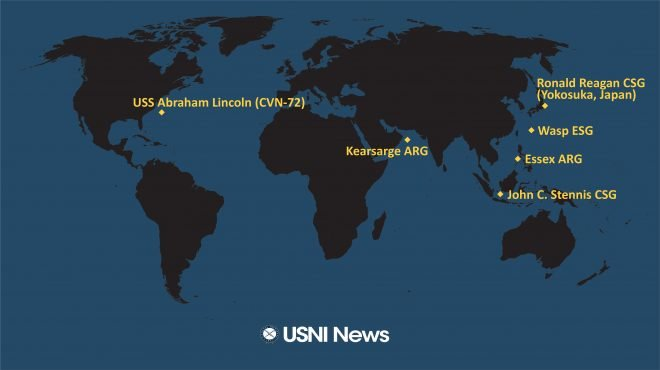 USNI News Fleet and Marine Tracker: Feb. 4, 2019