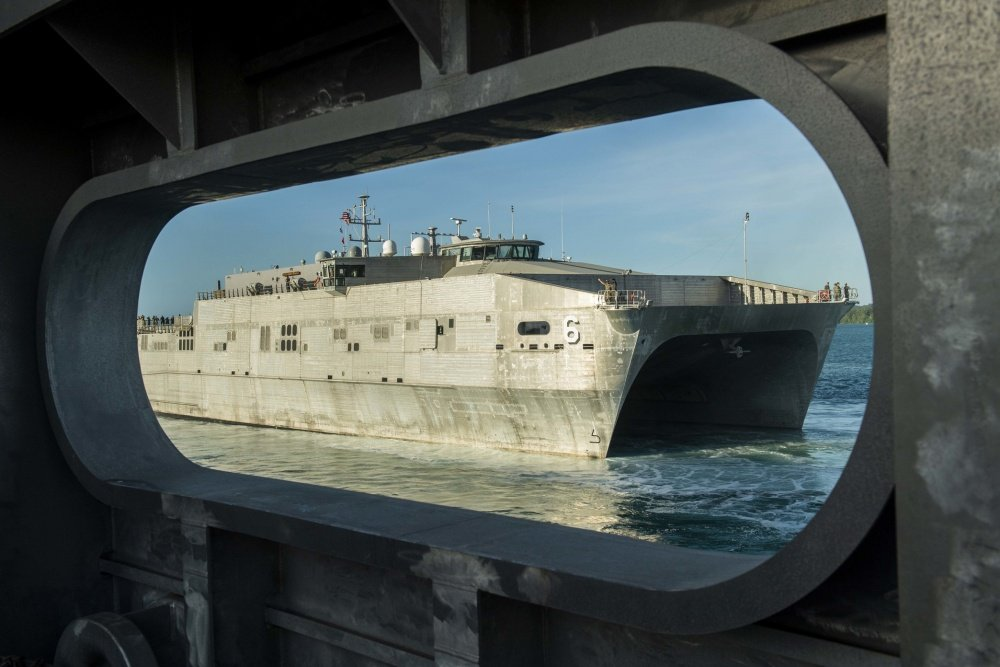 99c1902b4c60 Expeditionary fast transport ship USNS Brunswick (T-EPF 6) departs Naval  Base Guam