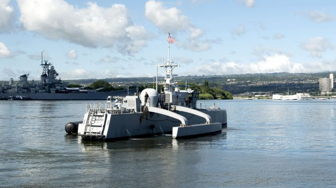 Sea Hunter Unmanned Ship Continues Autonomy Testing as NAVSEA Moves Forward with Draft RFP
