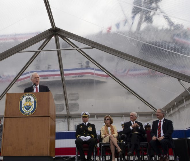 Littoral Combat Ship USS Charleston Commissions in South Carolina