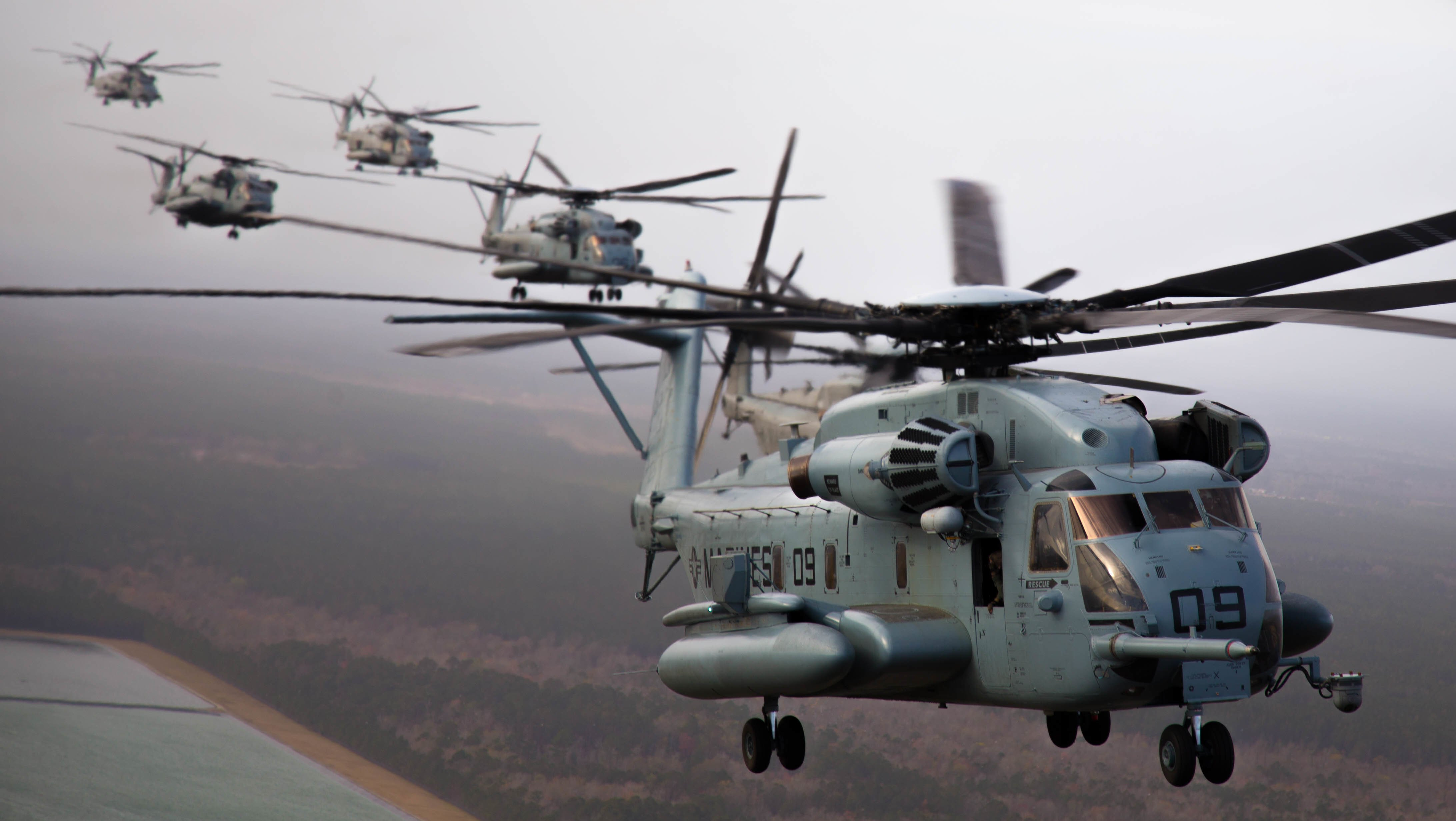 Marines' CH-53E Helos Seeing Sharp Uptick in Readiness, Amid
