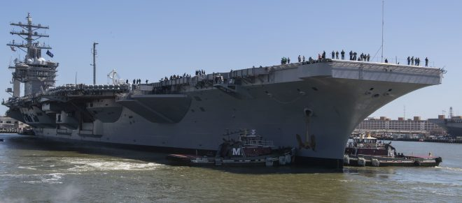 Carrier Eisenhower Back to Sea After Planned 6-Month Repair Period Tripled in Length