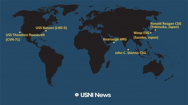 USNI News Fleet and Marine Tracker: March 11, 2019