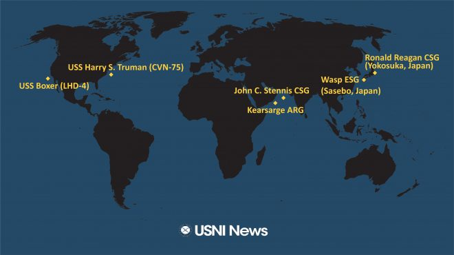 USNI News Fleet and Marine Tracker: March 18, 2019