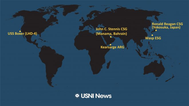 USNI News Fleet and Marine Tracker: March 25, 2019