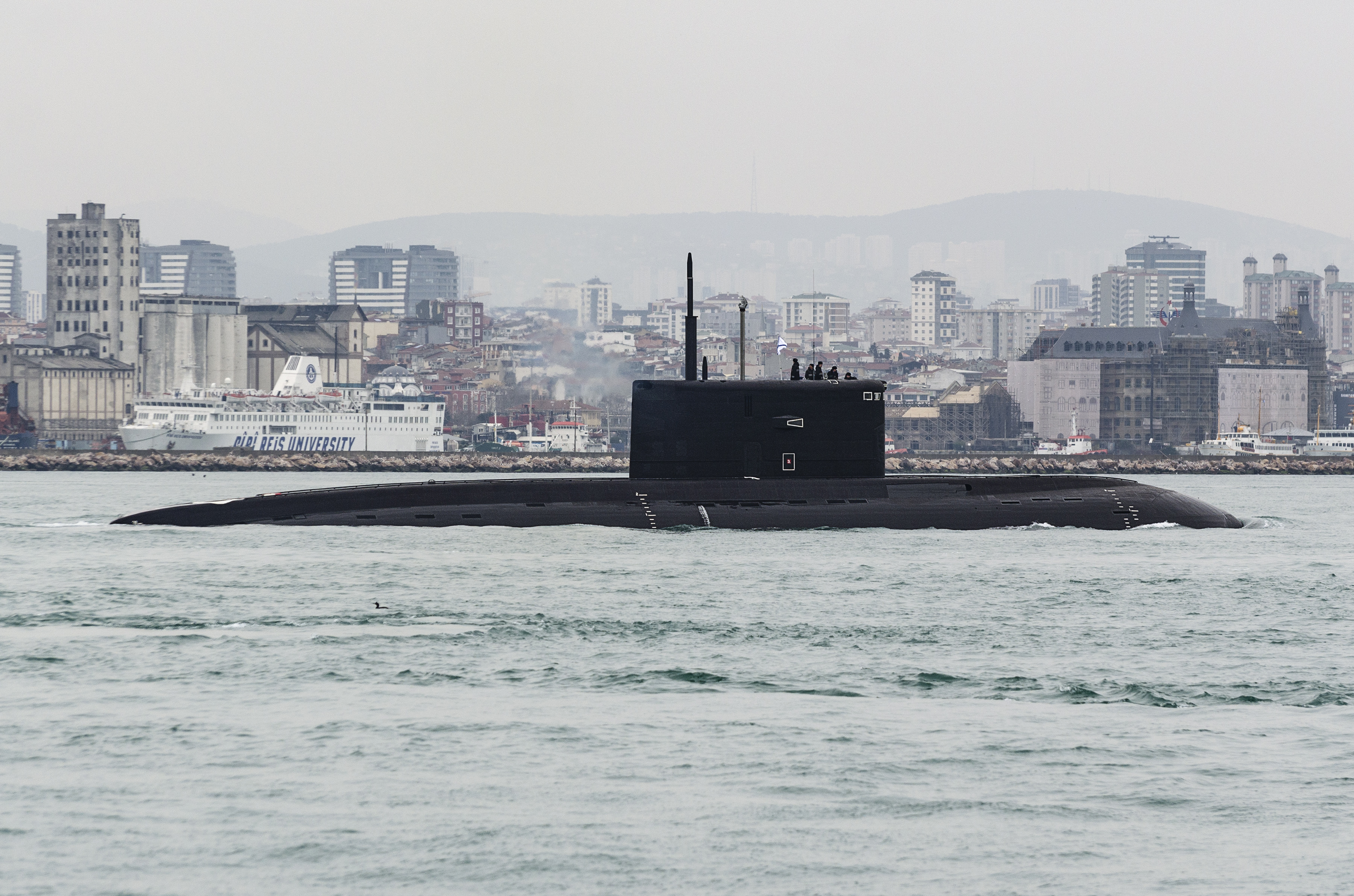 Russian Submarine Makes Mysterious Exit From Black Sea