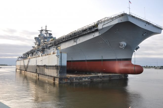 Amphibious Assault Ship Tripoli's Delivery Pushed To Late 2019 or Early 2020