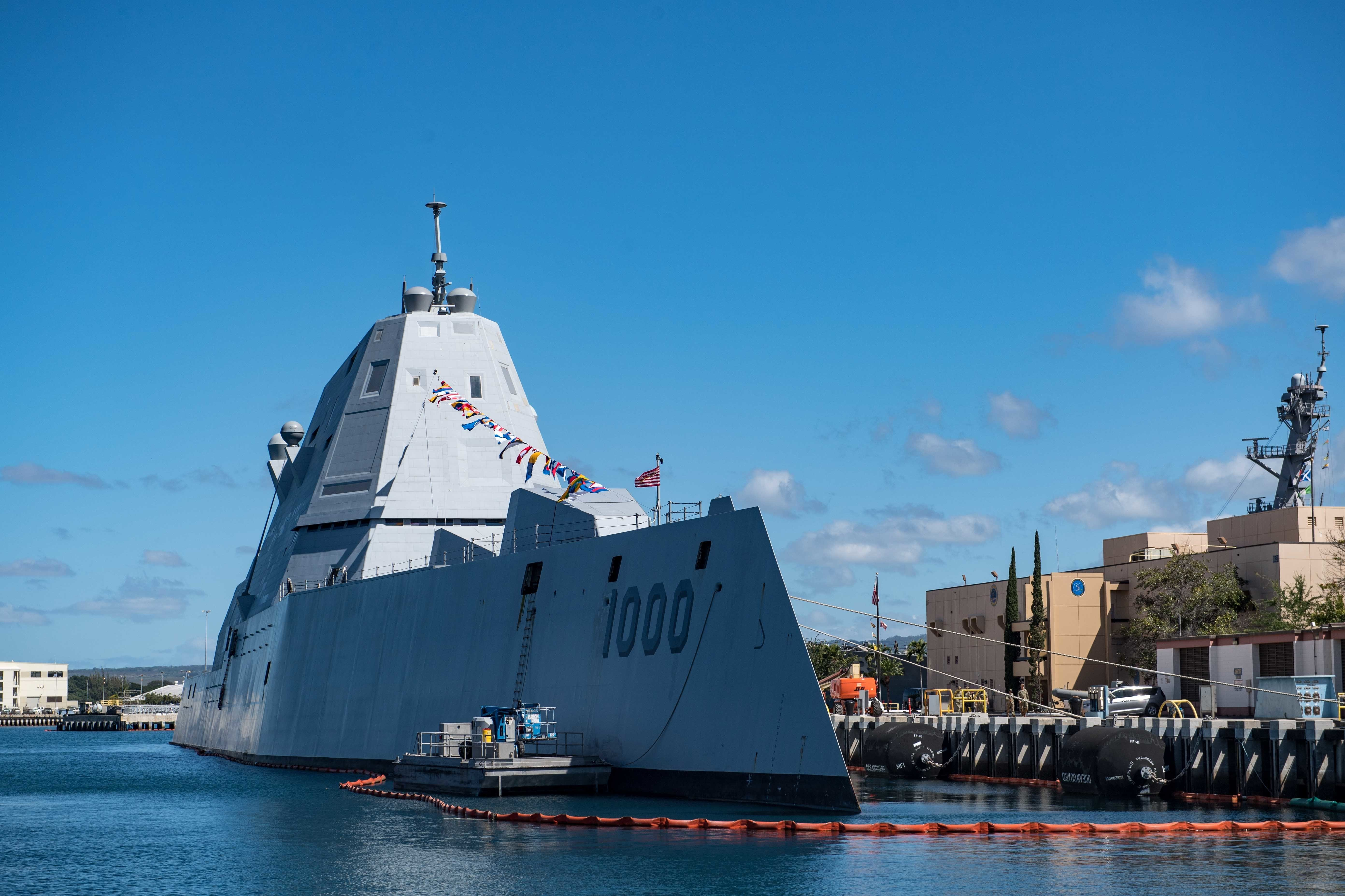 Destroyer Uss Zumwalt Delivers To Navy After Combat System Activation Usni News