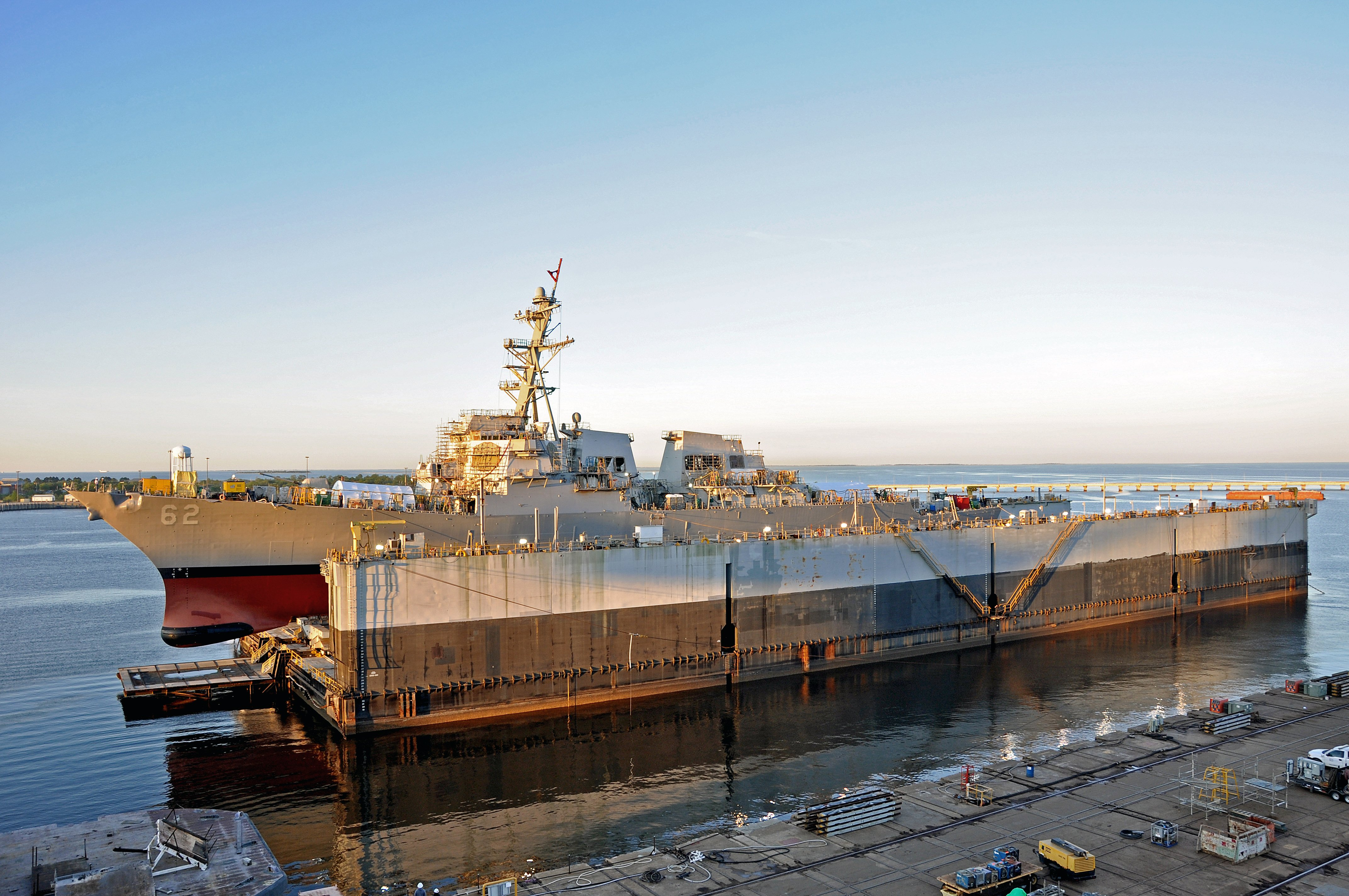 USS Fitzgerald Leaves Mississippi Drydock After More Than a Year of Repairs