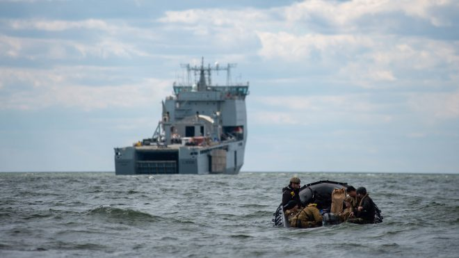VIDEO: Navy Brings Mine Countermeasures Triad Together for Experiment Aboard British Ship