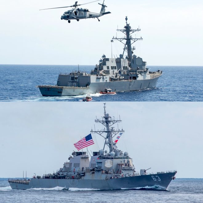 Two U.S. Warships Pass Through Taiwan Strait in 7th Transit Since 2018