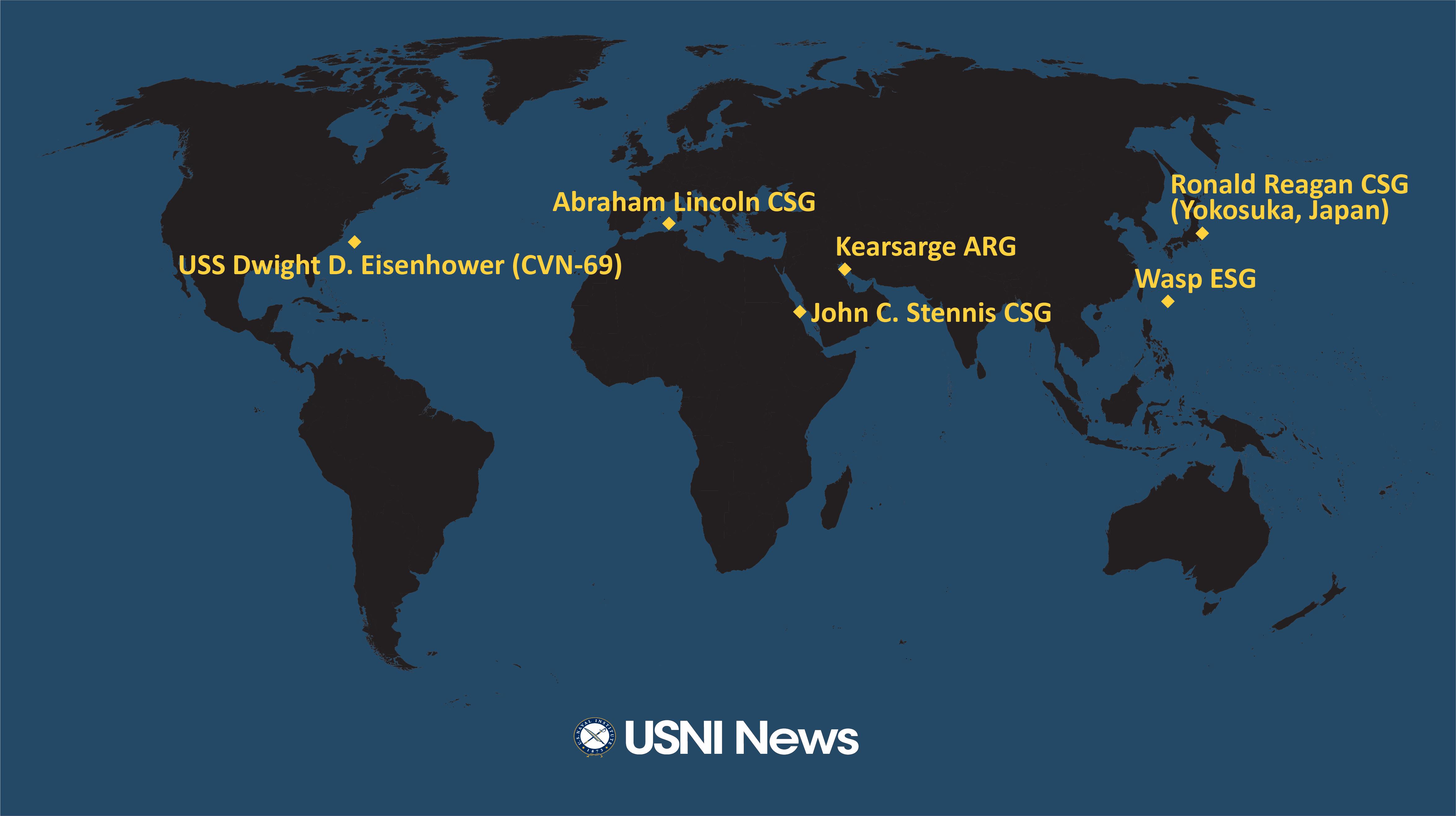 USNI News Fleet and Marine Tracker: April 15, 2019