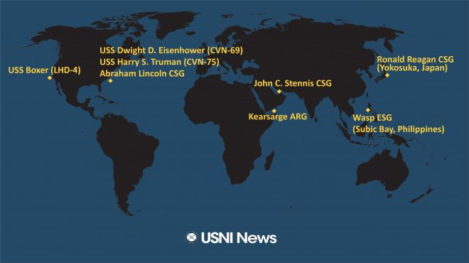 USNI News Fleet and Marine Tracker: April 1, 2019