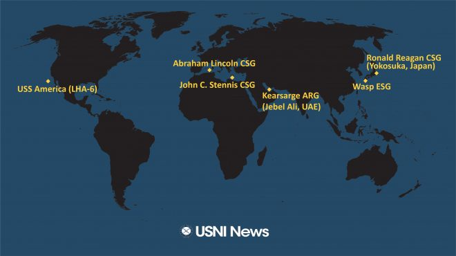 USNI News Fleet and Marine Tracker: April 22, 2019