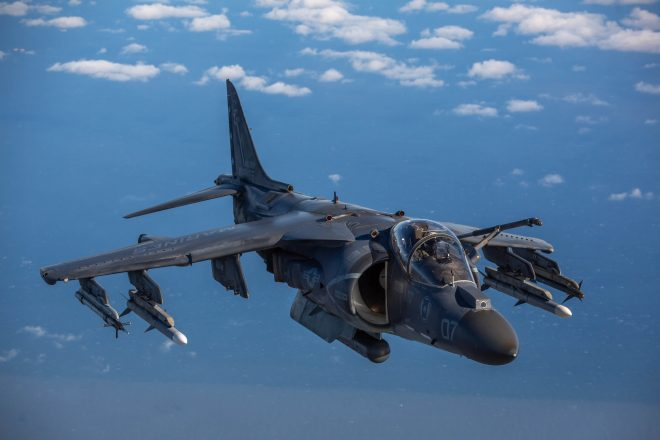Marine Corps AV-8B Harrier Crashes Outside MCAS Cherry Point; Pilot Safely Ejected
