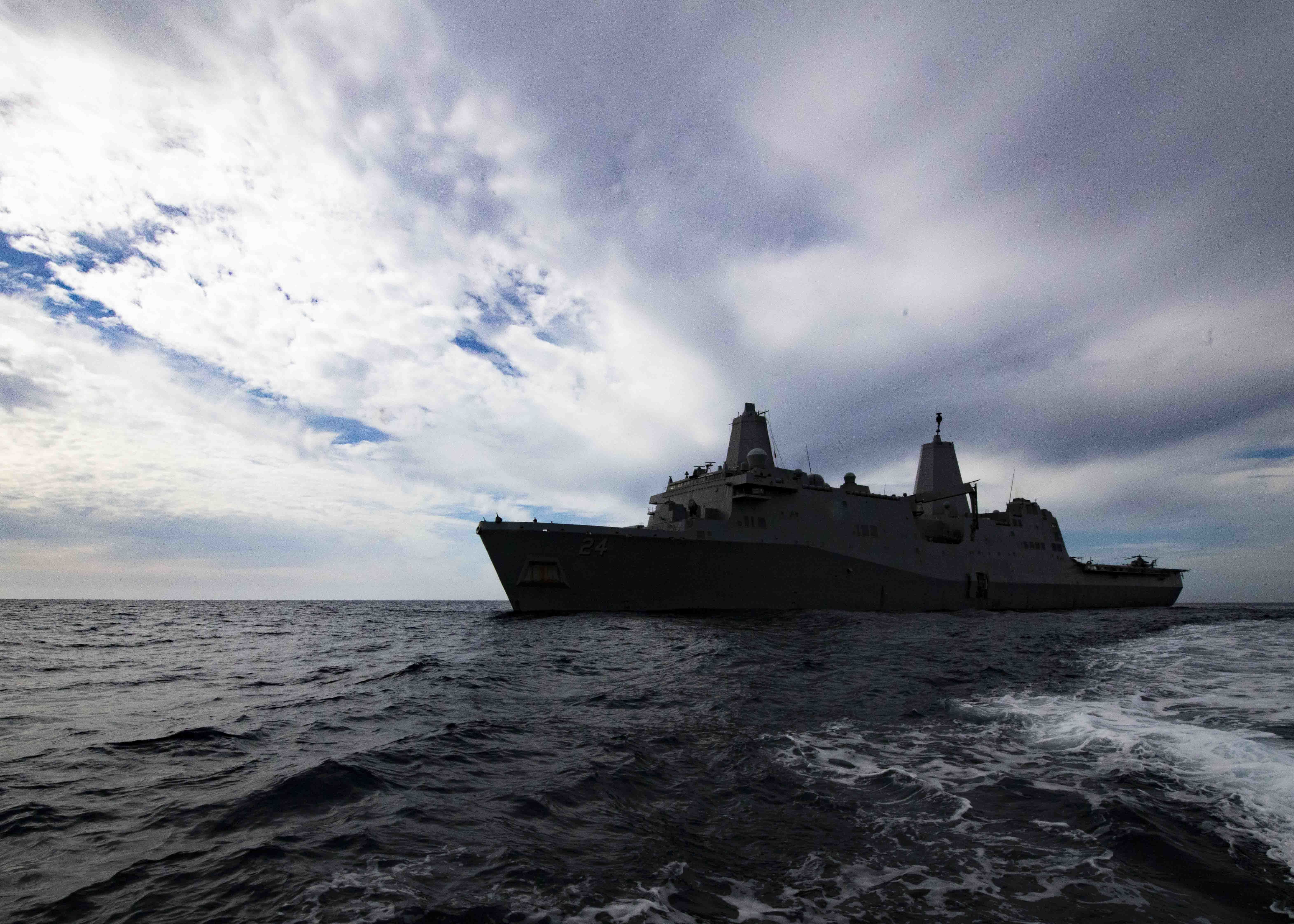 USS Arlington, Marines to Join U S  Carrier in Middle East