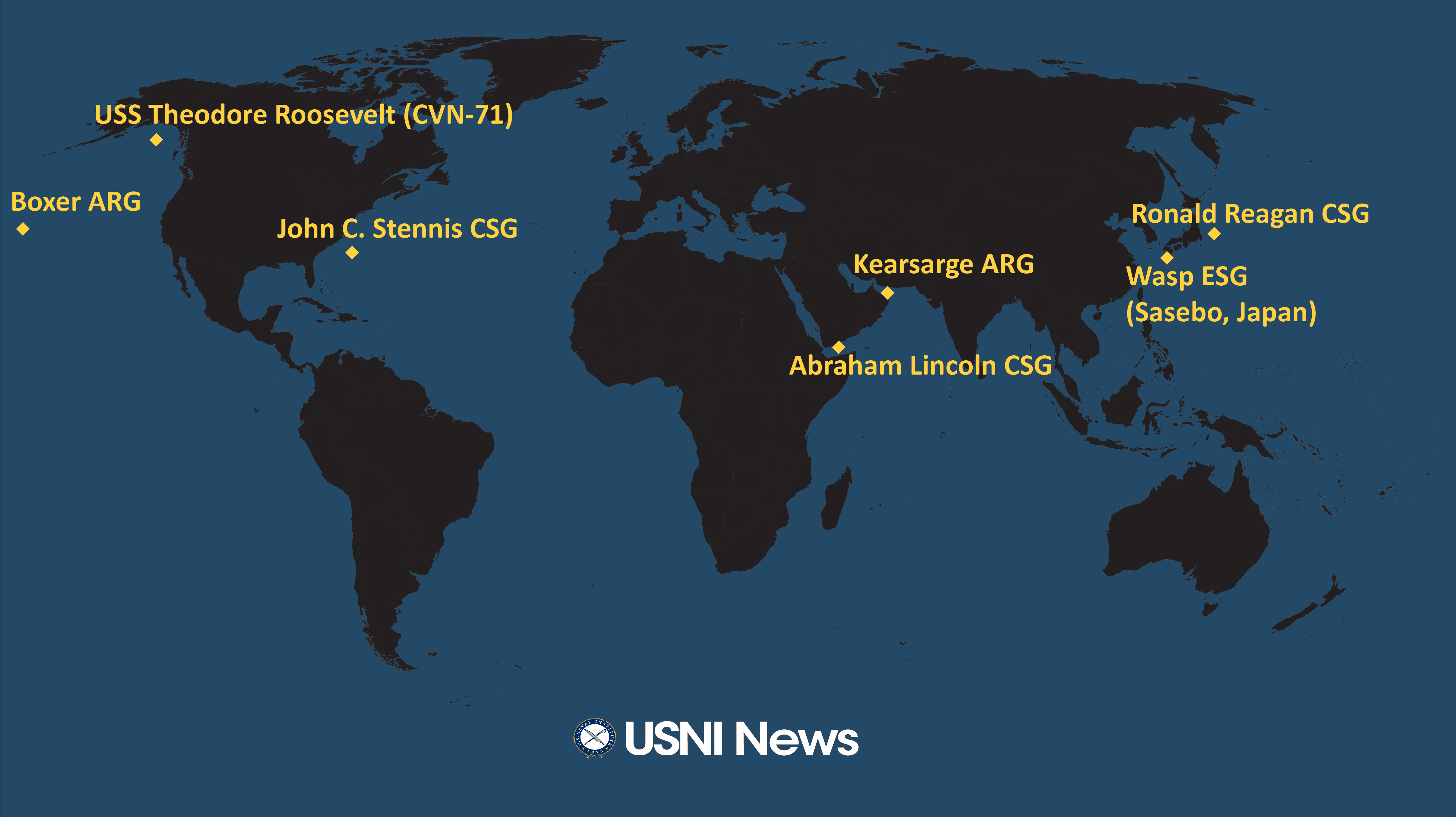 Us Navy Ship Locations Current Map USNI News Fleet and Marine Tracker: May 13, 2019