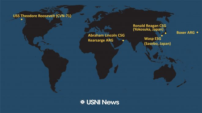 USNI News Fleet and Marine Tracker: May 20, 2019