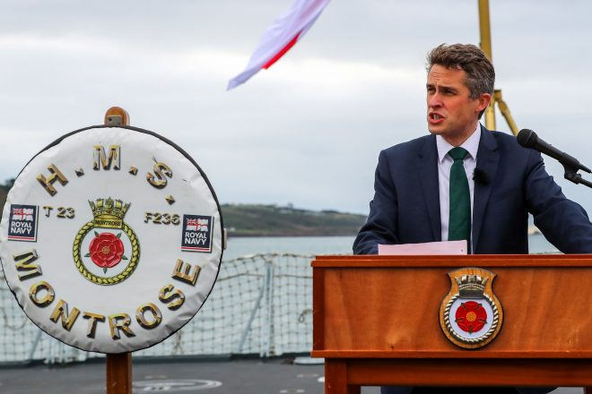 Royal Navy-Friendly U.K. Defense Secretary Williamson Removed Over Huawei Leak