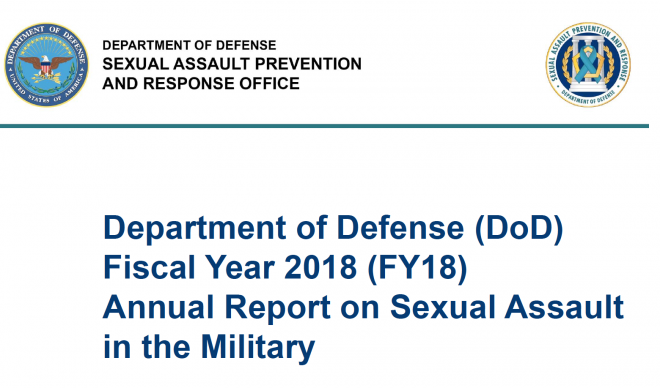 Document: Pentagon FY 2018 Sexual Assault Report