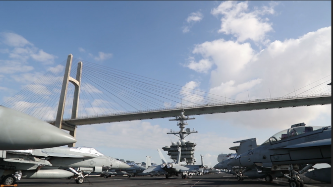 VIDEO: USS Abraham Lincoln Transits Suez Canal