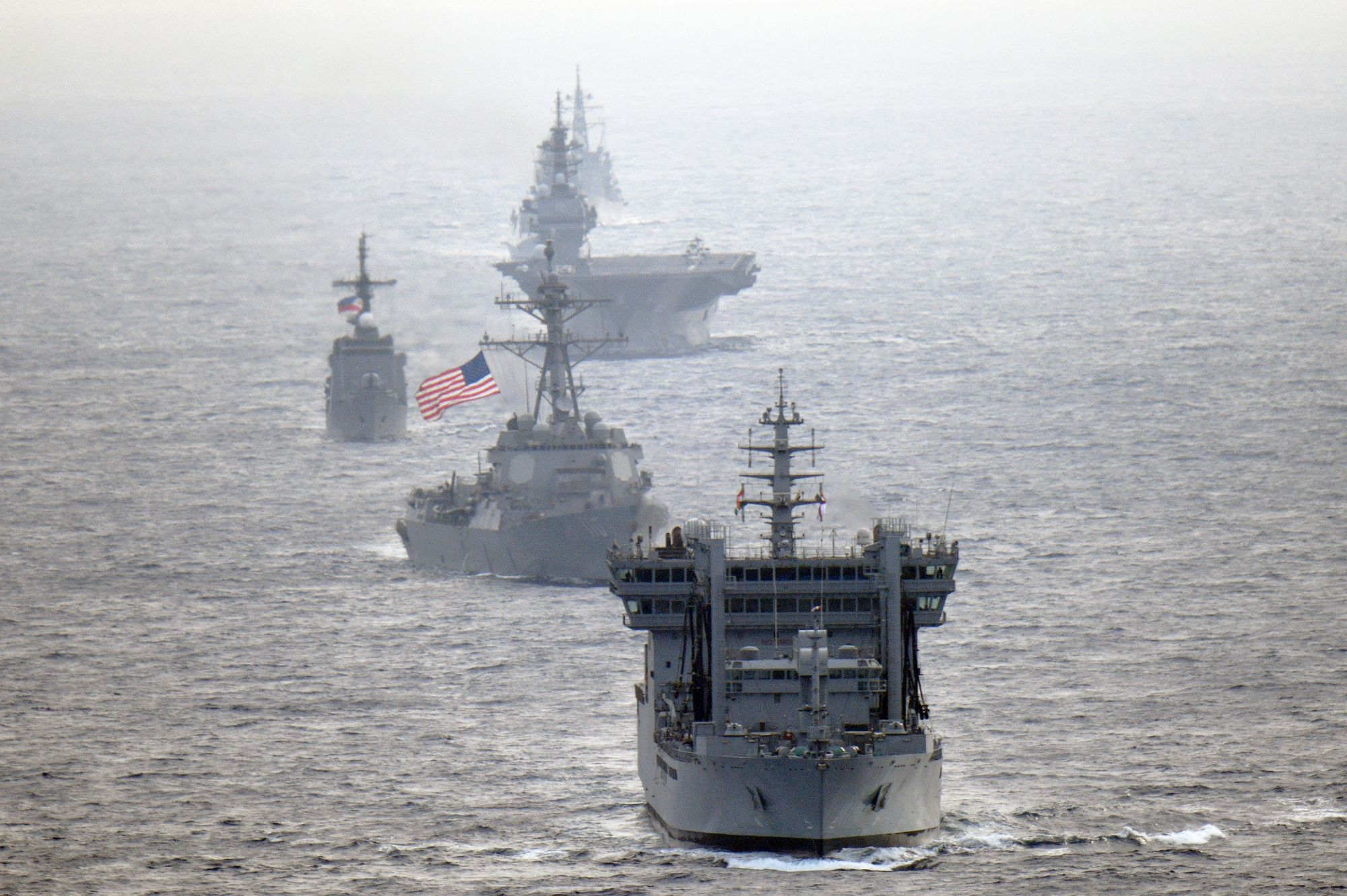 U S  Destroyers Active in 2 Separate South China Sea