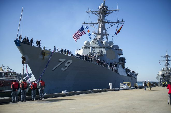 USS Oscar Austin Fire Damage Repairs Will Stretch into 2022