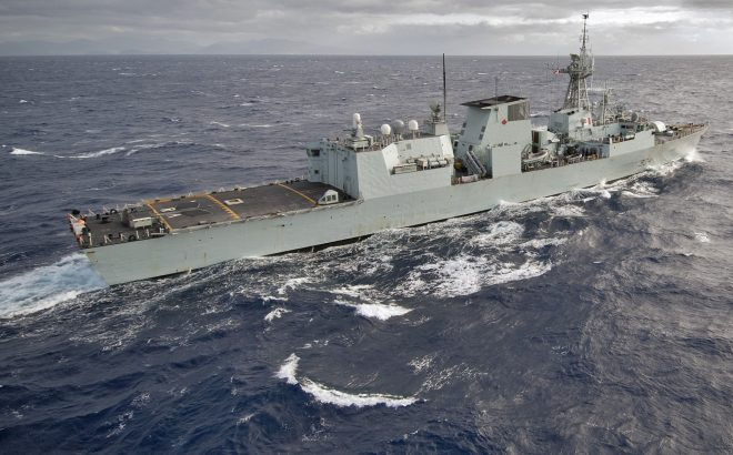 Canadian Frigate, Supply Ship Buzzed By Chinese Fighters In Taiwan Strait